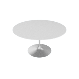 Saarinen Round Dining Table 54'', Laminate - Platinum.White
