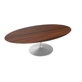 Saarinen Oval Dining Table 96'',Rosewood - Plt.Rosewood