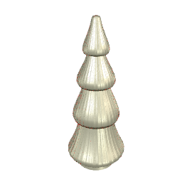 Mercury Glass Christmas Tree, 30.5cm