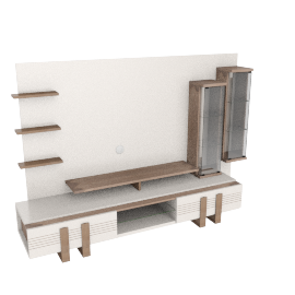 Geo Wall Unit, Oak/Half/White