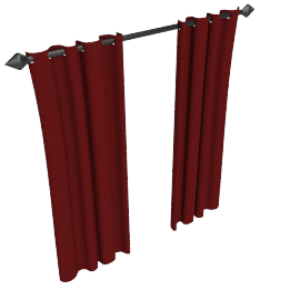 Plain Silk Pencil Pleat Curtains, Wine, W168 x Drop 136cm