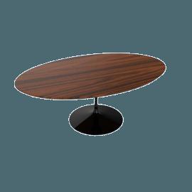 Saarinen Low Oval Coffee Table - Rosewood - Black.Rosewood