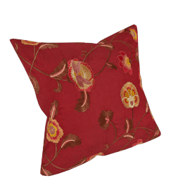 Oriental Floral Cushion, Red