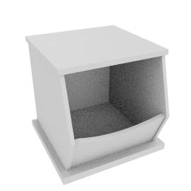 Storage Box Single, White