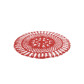 Crochet Placemat, Red