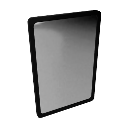 House by John Lewis Rounded Corner Mirror 75 x 50cm