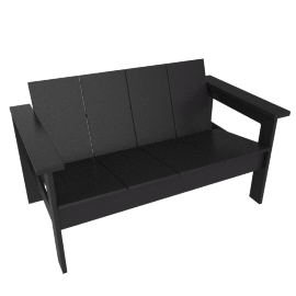 Hennepin 2 seater sofa, Black