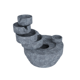 Cascade Decorative 3-Pin Fountain - 25x21x23 cms