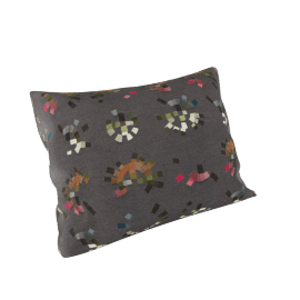 Maharam Pillow in Colorwheel 18X26, Charcoal
