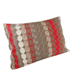 Retro Spot Cushion, Peat / Flame