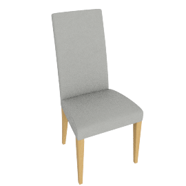 Lydia Dining Chair, Taupe leather