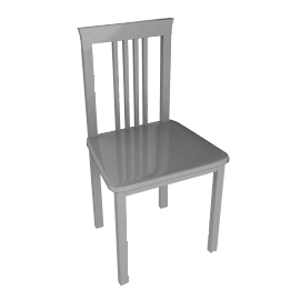 Quebec Dining Chair, White