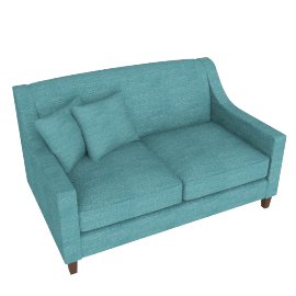 Halston 2 Seater Sofa, Aqua