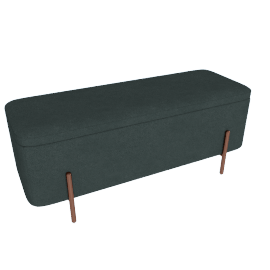 Asare Storage Ottoman, Copper/Midnight Grey Velvet