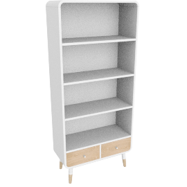 Edelweiss tall bookcase
