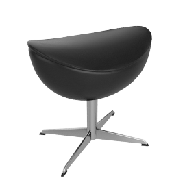 Egg™ Footstool - Classic Leather - Black