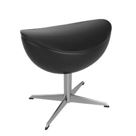 Egg™ Footstool - Classic Leather - Black