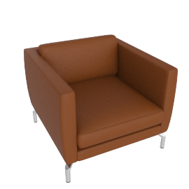 Comolino Armchair, Kalahari Leather, Canyon