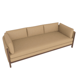 Emmy Sofa, kalahari leather, sand