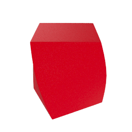 Frank Gehry Left Twist Cube - Red