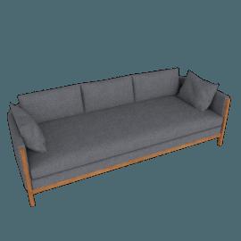 Emmy Sofa, Pebble Weave, Pumice