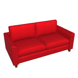Portia Medium Sofa Bed, Red