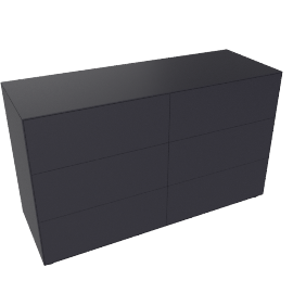 Lauki Low Dresser, Graphite