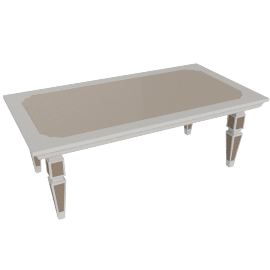 Kingston Coffee Table, Pearl Champagne