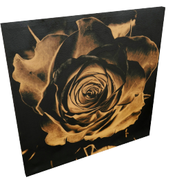 Heritage Rose Canvas Print Wall Art - 80x3x80 cms