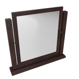 Indiana Vanity Mirror-D.Brn/Ant. Gold