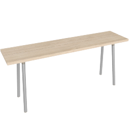 Run 62'' Table, Ash Top Aluminum Base
