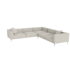Como Corner Sectional in leather, Gesso