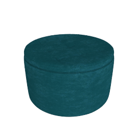 Retina Quilted Ottoman with Storage, Green