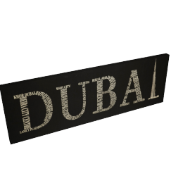 Dubai Canvas Printing with Foil - 120x4.3x40 cms