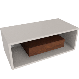 Cruze Coffee Table, HG Cream/Wlnt