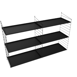 100108054 String Wall 24'' - 2 Bay  BLACK
