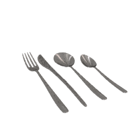 Laurence Llewelyn-Bowen Echo Cutlery Set, Stainless Steel, 32-Piece
