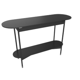 Sommer Console with Lower Shelf, Black