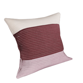 Segments Cushion, Mulberry