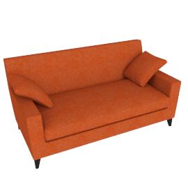 Citta Premier Small Sofa, Paprika Hektor
