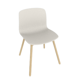 About A Chair 12 Side Chair, Cream White / Oak
