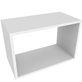 Stacked Shelf Large, White - White
