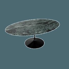 Saarinen Low Oval Coffee Table - Coated Marble 2 - Blk.VerdeAlpi