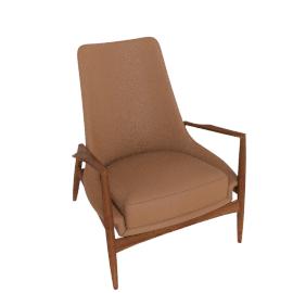 Seal Chair, High Back, Black