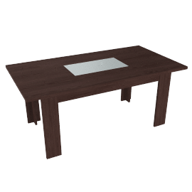 Strata Dining Table, Bitter Chocolate