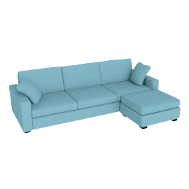 Tom Sofa Bed, Right Hand Facing, Sky Blue
