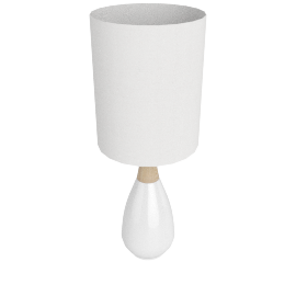 Alamak Ceramic Table Lamp 50Cm, White