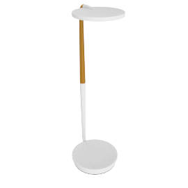 Pixo Optical LED Table Lamp, White/Brass