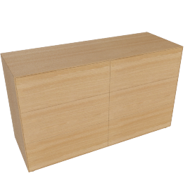 Lauki Low Dresser, Oak