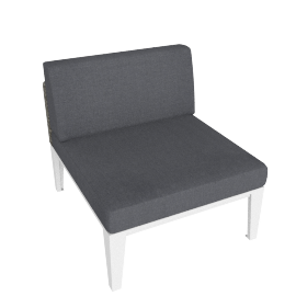 Evening Breeze Middle Chair , Grey/White
